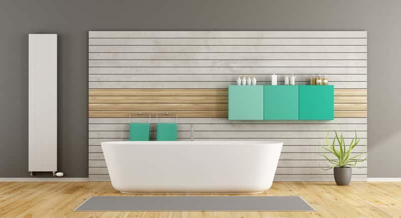 Zaaranżowana łazienka z panelami podłogowymi laminowanymi, a także wymagania, zastosowanie, ceny i producenci
