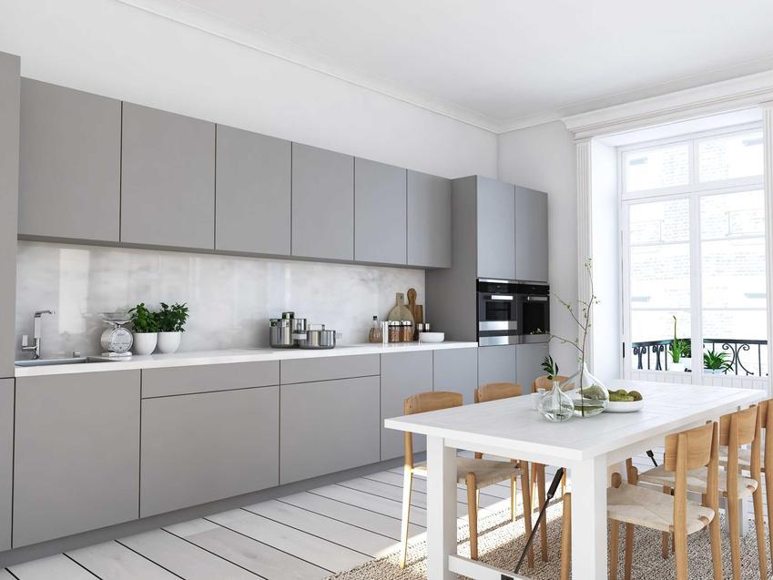 Nowoczesna, szara kuchnia, a także informacje, jakie kolory do kuchni najlepiej wybrać, najlepsza paleta barw