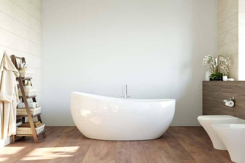 Nowoczesna łazienka skandynawska, a także łazienki w stylu skandynawskim, aranżacje, pomysły i inspiracje do urządzenia pomieszczenia