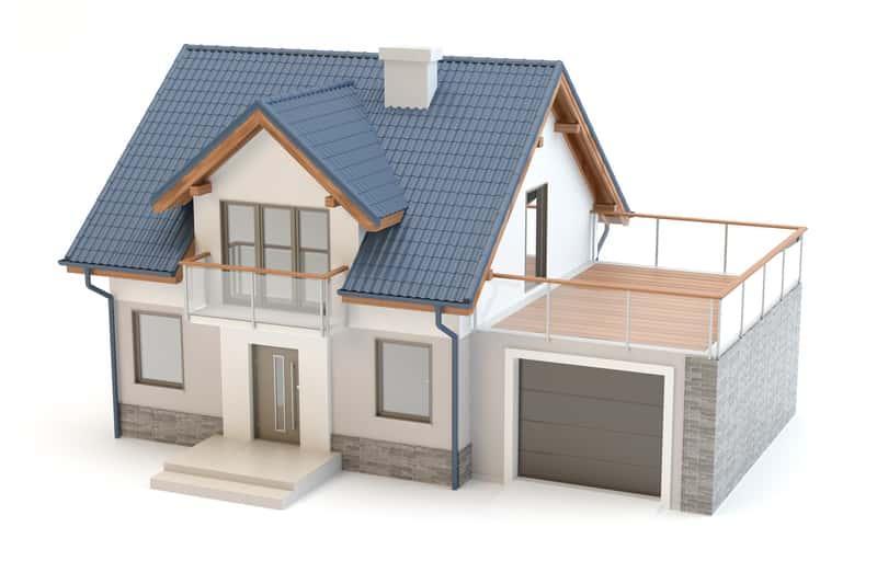 Schemat bryły małego domu taniego w budowie, a także jakie projekty domów małych i tanich wybrać krok po kroku
