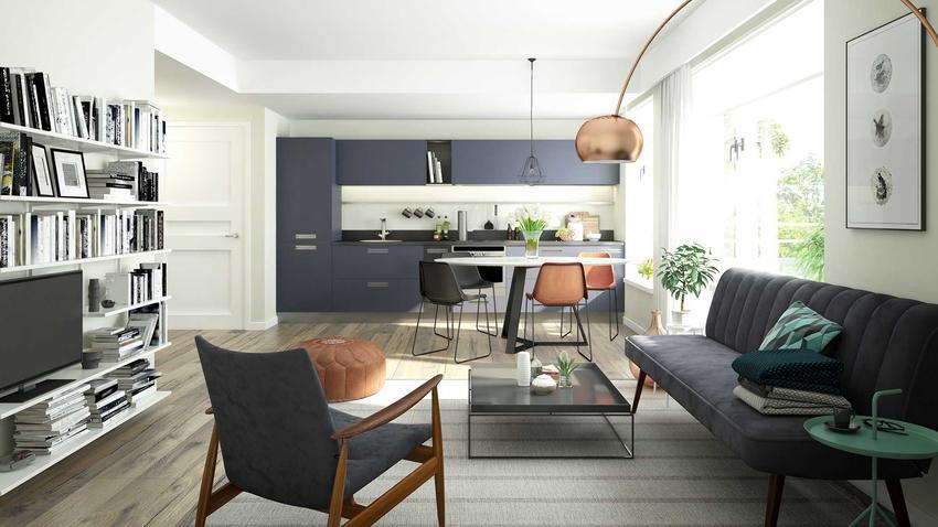Kuchnia otwarta z salonem to świetne rozwiązanie. Najbardziej nowoczesne projekty sprawiają, że oba pomieszczenia są tak samo zorganizowane i podobne.