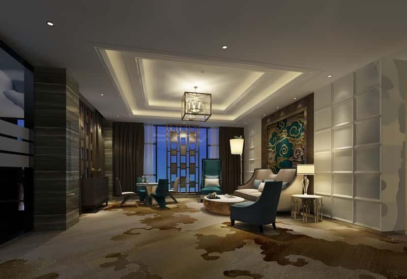 Ciemny salon w nowoczesnym stylu, a także TOP 10 najpiękniejszych aranżacji salonu w domu