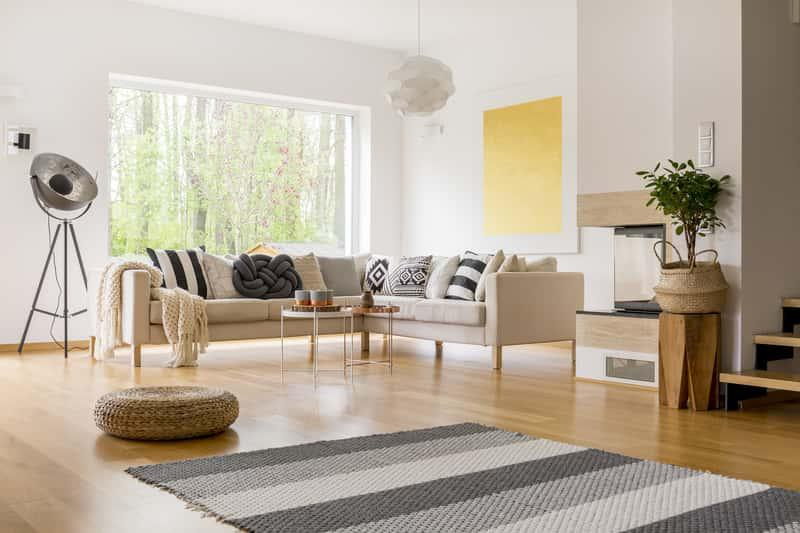 Dywan ze sznurka w pokoju dziennym, a także rodzaje i producenci, opinie oraz ceny i inspiracje aranżacji z dywanem ze sznurka
