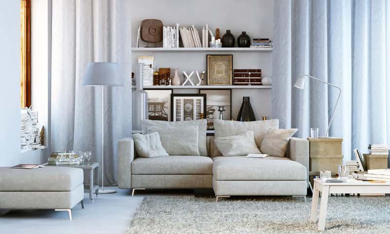 Meble pokojowe w białym kolorze, najpiękniejsze zestawy mebli pokojowych do salonu lub dużego pokoju krok po kroku