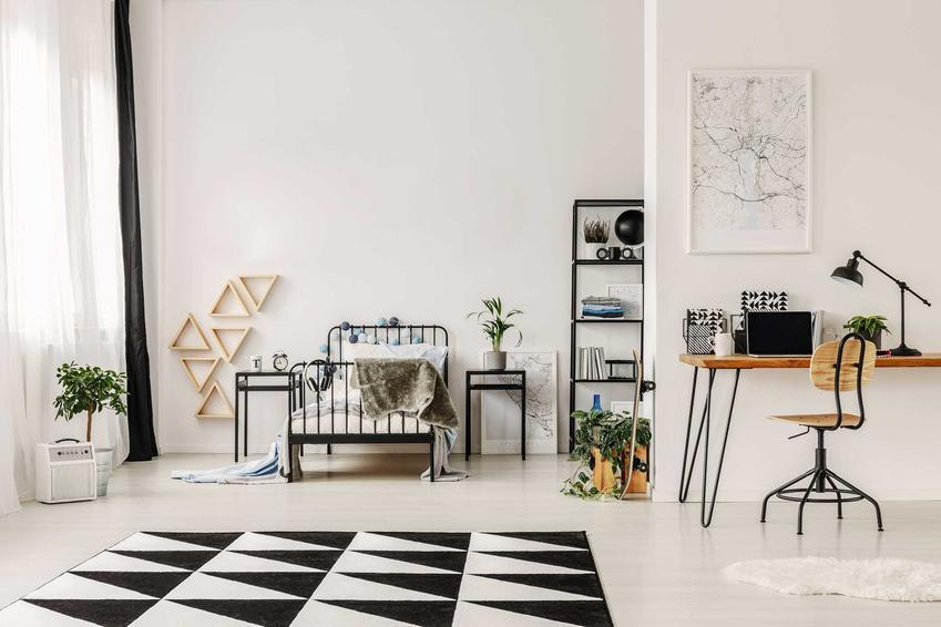 Elegancki, czarno-biały dywan to idealne rozwiazanie do nowoczesnych wnętrz. Jest bardzo duży wybór takich dywanów na rynku i wiele z nich świetnie się sprawdza.