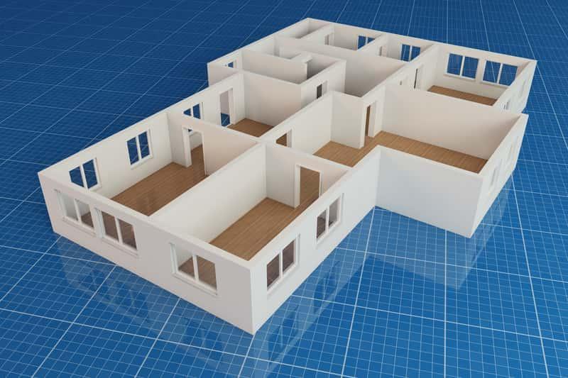 Projekt domu parterowego 3D, a także inne projekty domów tanich w budowie, najbardziej popularne rozwiązania i zastosowania