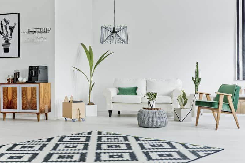 Dywan marki Łuszczów w nowoczesnym salonie, a także dywany Łuszczów, przegląd oferty i opinie o producencie