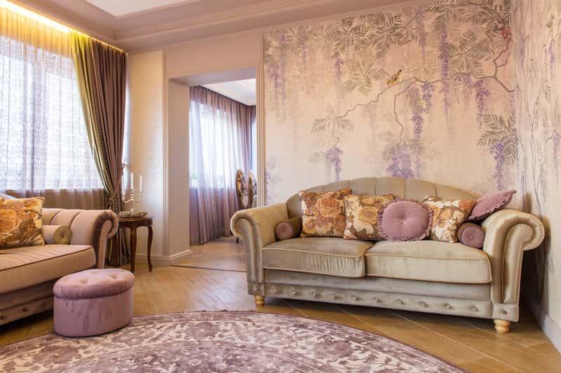 Klasyczny salon z dywanem klasycznym w typowy wzór, a także najlepsi producenci klasycznych dywanów do wszystkich pomieszczeń