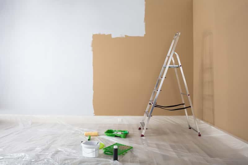 Ściana pomalowana farbą silikatową, a także zastosowanie, opinie, ceny oraz wiodący producenci i ich oferta farb z silikatem
