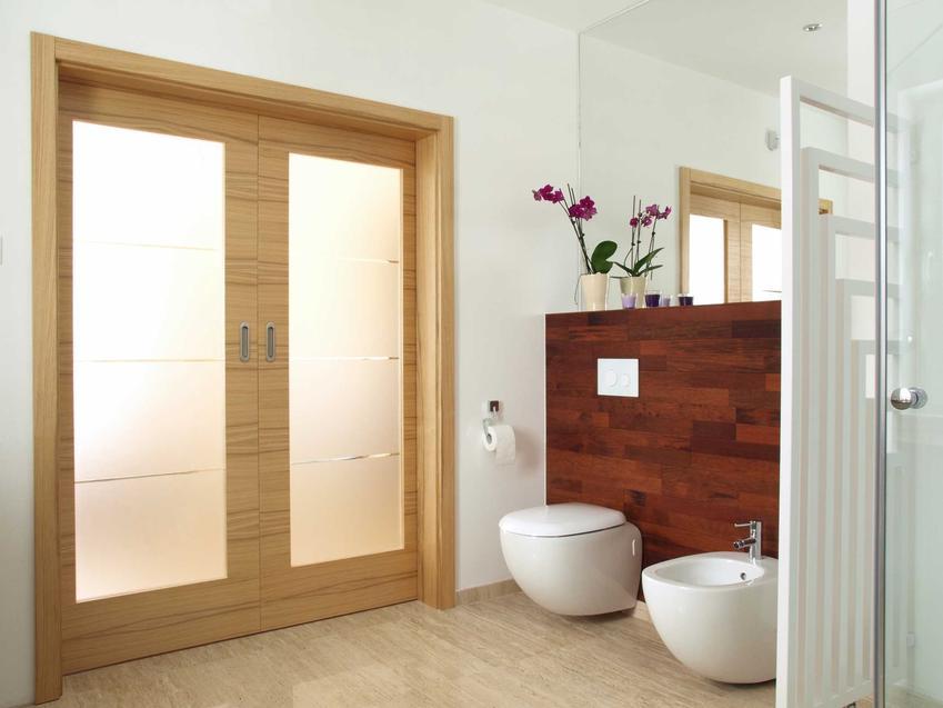 Drzwi przesuwne naścienne od wewnątrz w łazience oraz systemy drzwi  do domu, producenci oraz ceny drzwi przesuwnych