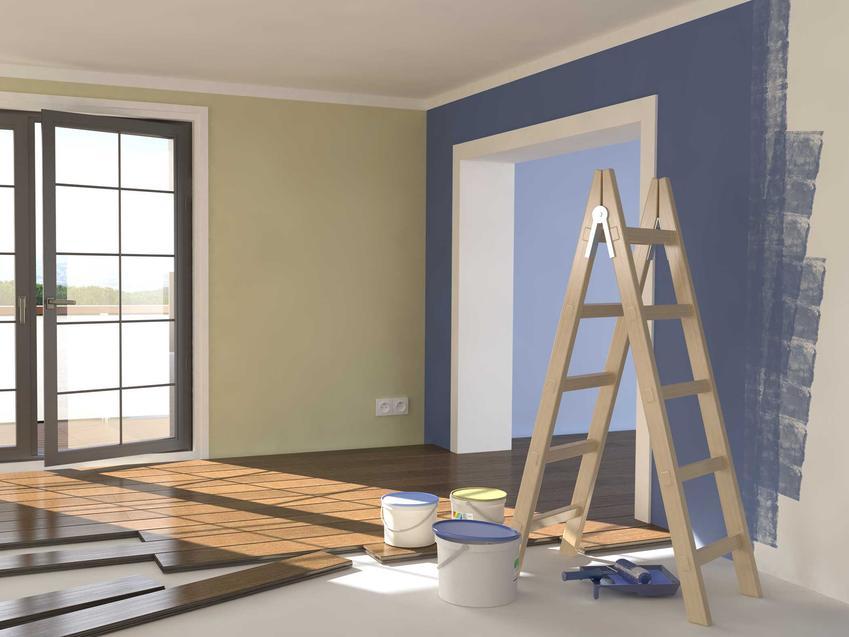 Wykańczanie mieszkania pod klucz zakłada gipsówki i pomalowanie ścian na różne kolory, należy także założyć podłogi. Koszt wykończenia salonu i przedpokoju w dużej mierze zależy od materiałów.