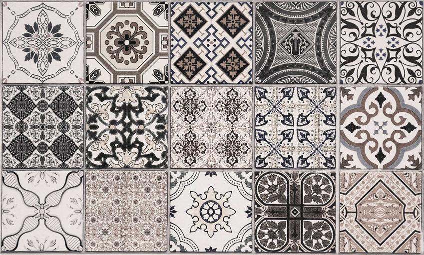Płytki marokańskie czy też kafle marokańskie w kolorze czarnym oraz ich zastosowanie jako płytki podłogowe i ścienne