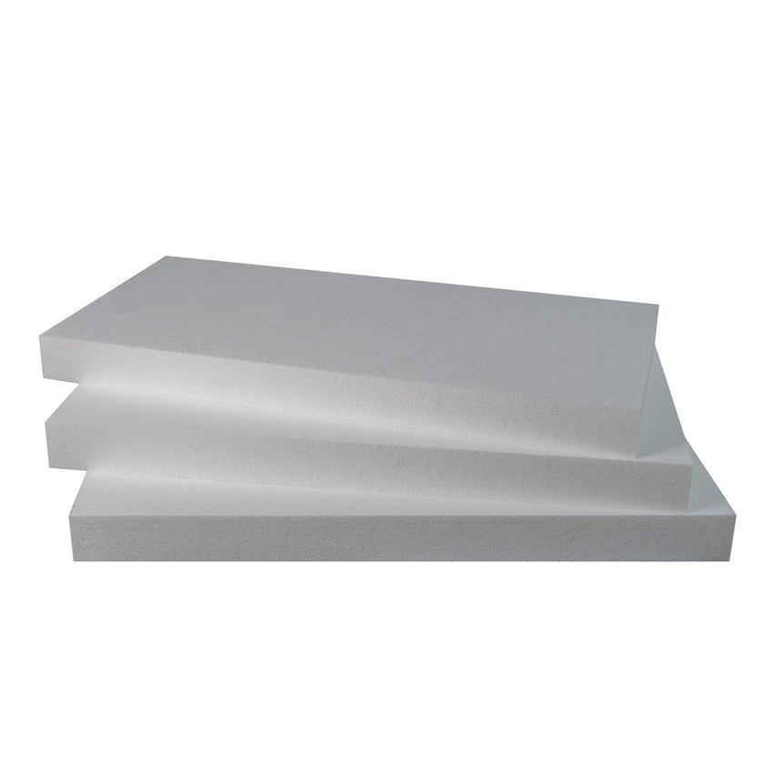 Styropian na białym tle, a także styropian w Castoramie, czyli między innymi stropian ekstrudowany, styropian xps, eps i styropian grafitowy