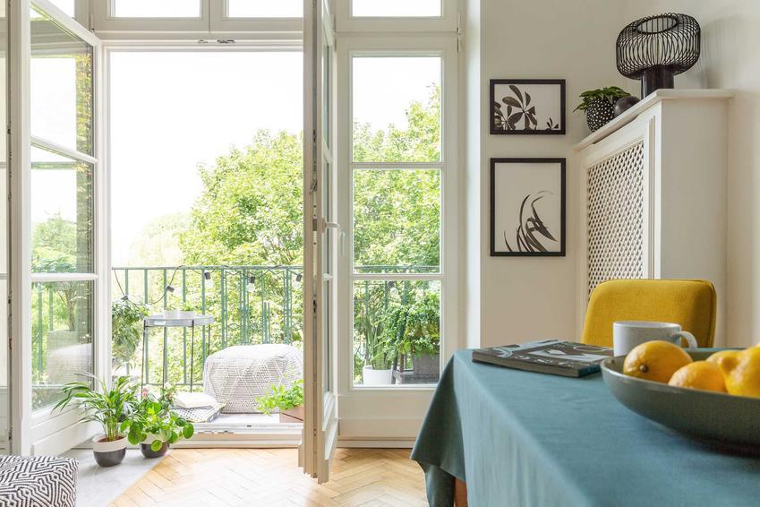 Wnętrze mieszkania, a także drzwi balkonowe dwuskrzydłowe oraz drzwi tarsowe dwuskrzydłowe i ich cena