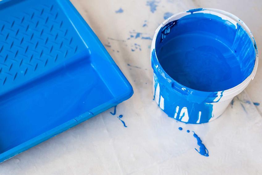 Farby do ścian, na przykład niebieska farba oraz inne polecane farby ścienne, kolory, producenci, rodzaje oraz skład