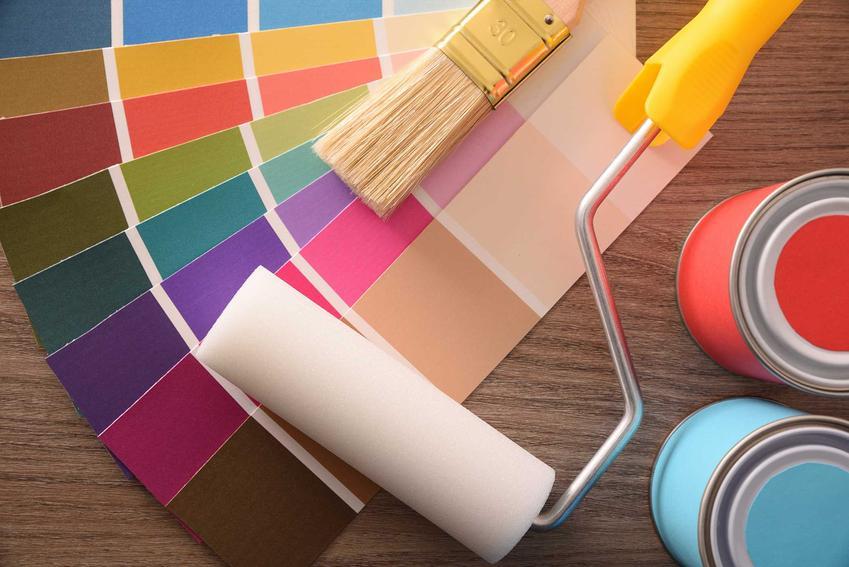 Farby do ścian na wzorniku w różnych kolorach oraz polecane farby ścienne, ich rodzaje, cechy oraz ceny