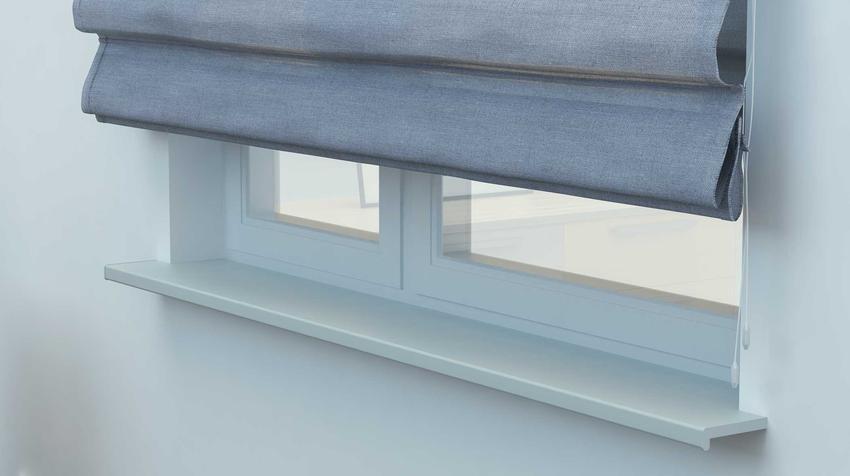 Okno w kuchni zasloniete roletami rzymskimi IKEA, idealne rolety rzymskie z materiałowe gotowe do zawieszenia