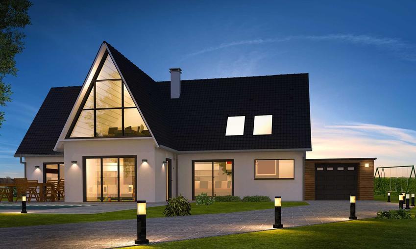 Oświetlenie zewnętrzne domu, czy najlepsze sposoby na projekt oświetlenia zewnętrznego budynku, ciekawe pomysły i rozwiązania - porady