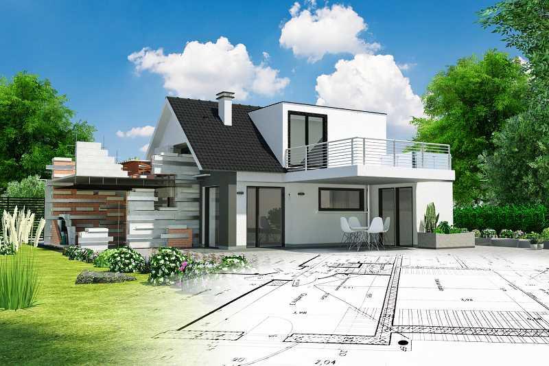 Dom jednopiętrowy z piwnicą 180 m2, a także koszt budowy, projektu domu o tej powierzchni oraz planowanie budynku