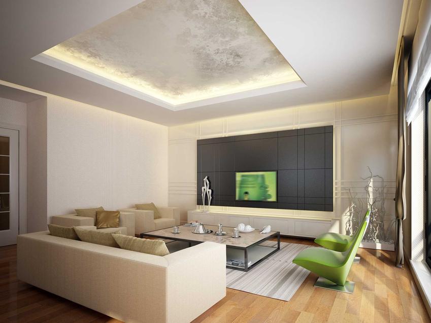 Oświetlony sufit podwiaszany oraz montaż sufitu podwieszanego, czyli montaż płyt gipsowych na suficie