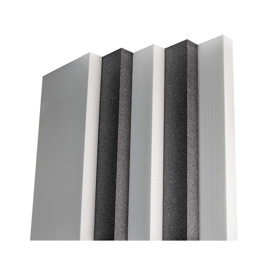 Ustawione pionowo płyty styropianowe, a także ceny styropianu, w tym cena za m2, cena za m3 i kubik styropianu