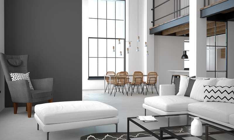 Szare i białe ściany w salonie, a także najmodniejsze i najlepsze kolory do salonu - modne farby, wykończenia, style i opinie
