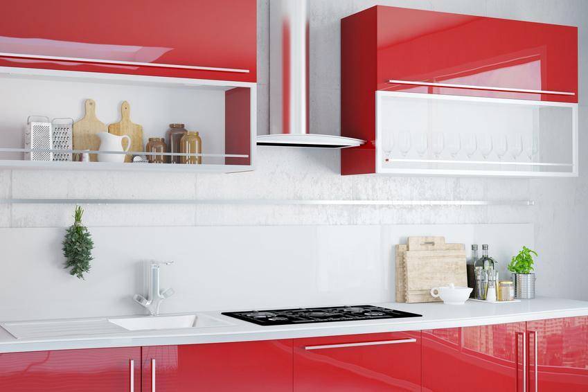 Nowoczesna kuchnia w czerwonym kolorze krok po kroku, a także projektowanie kuchni, jak przygotować dobry projekt kuchni
