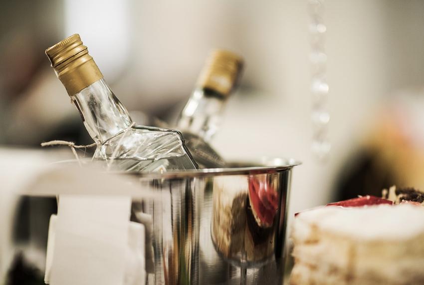 Zmrożona wódka weselna