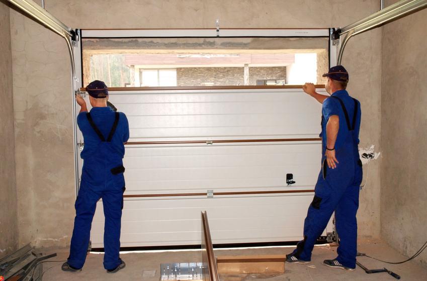 Montaż bramy garażowej przez specjalistów, a także regulacja bramy segmentowej i instrukcja montażu