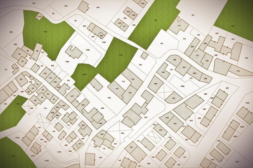 Mapa katastralna określana jako mapa ewidencyjna oraz informacje i porady przed budową