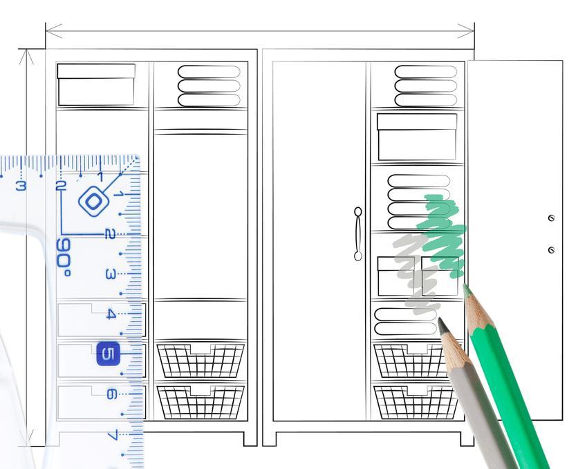 Projekt szafy na wymiar, czyli szafy na zamówienie właściwie zaprojektowane