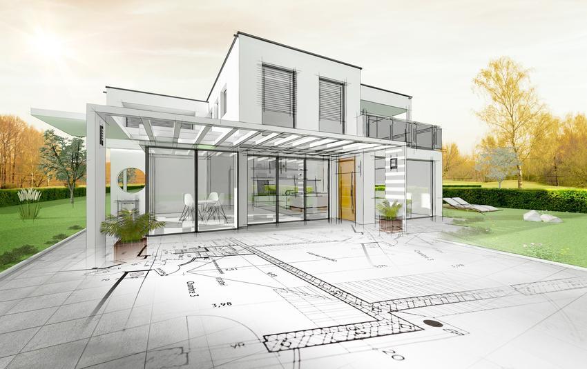 Projekt domu oraz plan budowy, a także mapa do celów projektowych i mapa zasadnicza oraz mapa geodezyjna