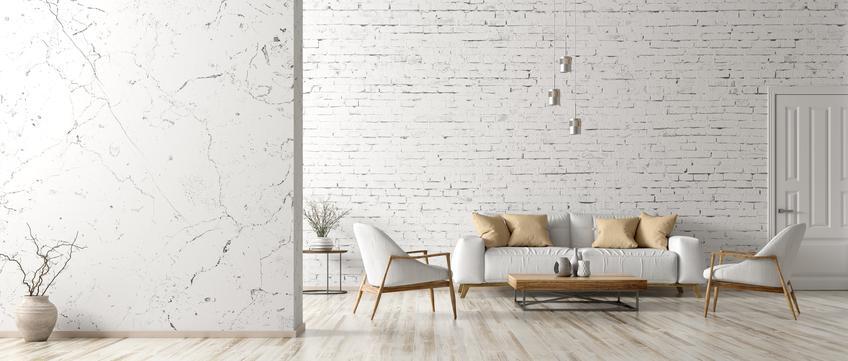 Biały, jasny i przestronny salon w nowoczesnym stylu oraz polecane oświetlenie do salonu