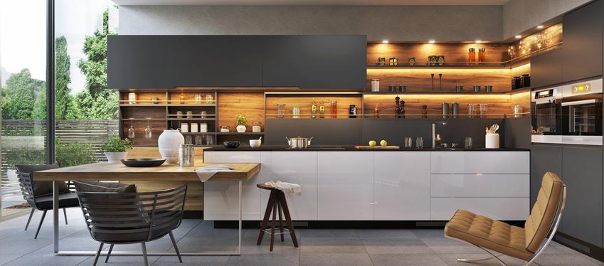 Pięka i przestronna kuchnia w nowoczesnym wydaniu, czyli nowoczesne kuchnie i nowoczesne meble kuchenne