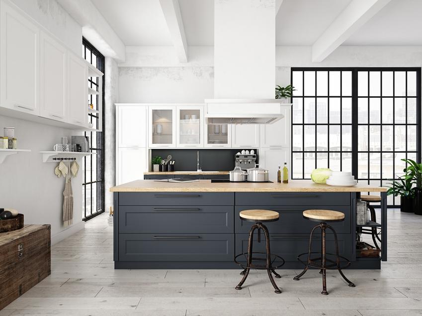 Pięknie nowocześnie zaarnażowana kuchnia oraz nowoczesne kuchnie i nowoczesne meble kuchenne