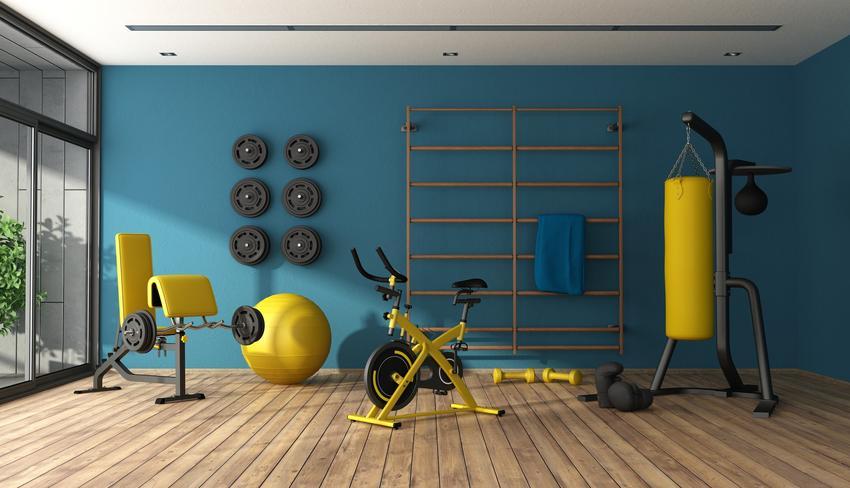 Domowa siłownia wyposażona w specjalistyczny sprzęt, czyli wyposażenie domowej siłowni