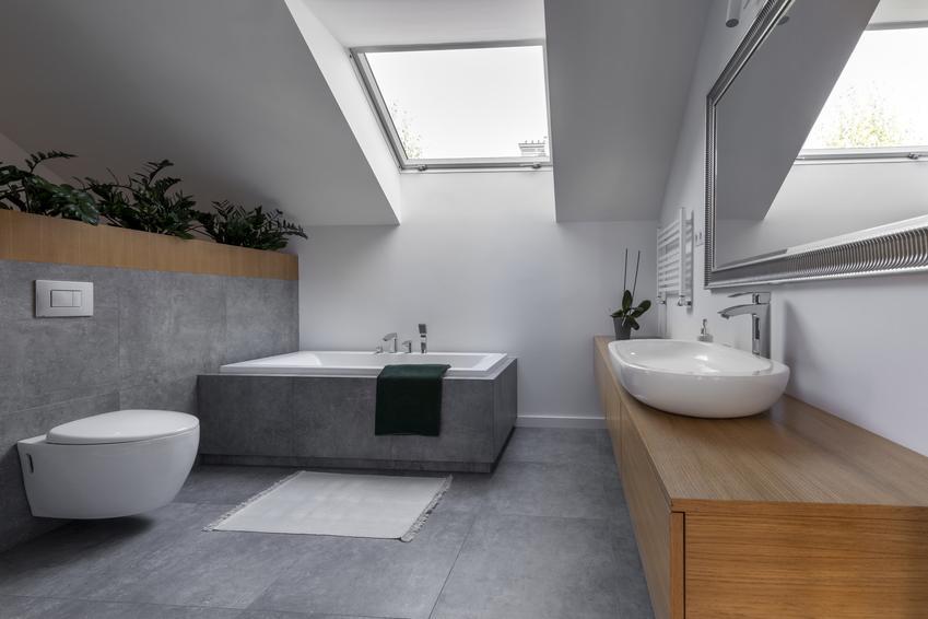 Piękna łazienka oraz zabudowa geberitu, czyli zabudowa stelaża WC