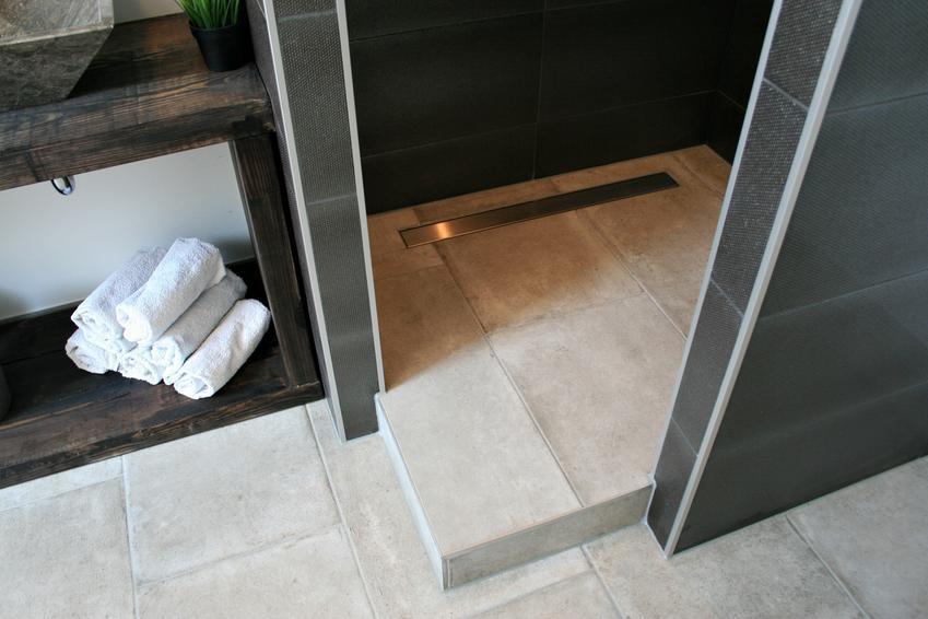 Odpływ liniowy pod prysznicem w łazience, a także cena i opinie