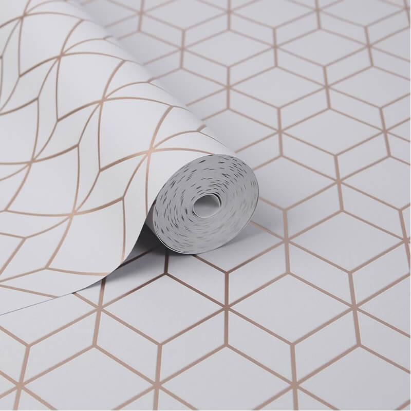 błyszcząca tapeta geometryczna