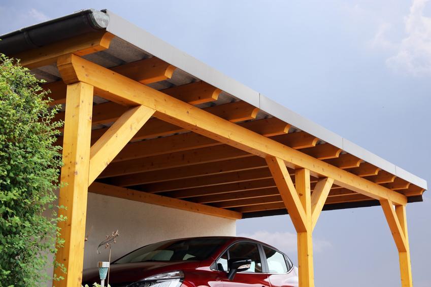 Wiata samochodowa, a także wiata przyścienna, wiaty drewniane