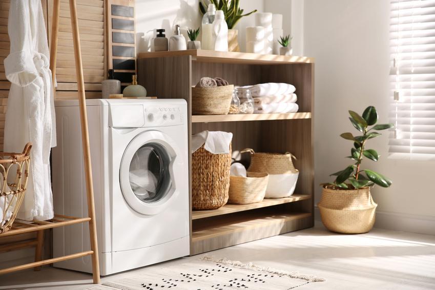 Ciekawa pralnia w domu jednorodzinnym, czyli pralnio suszarnia i suszarnia w domu