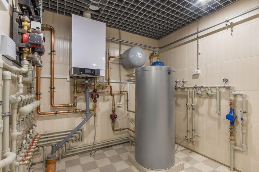 Kotłownia z piecem gazowym oraz piec gazowy Viessmann, kotły gazowe Viessmann