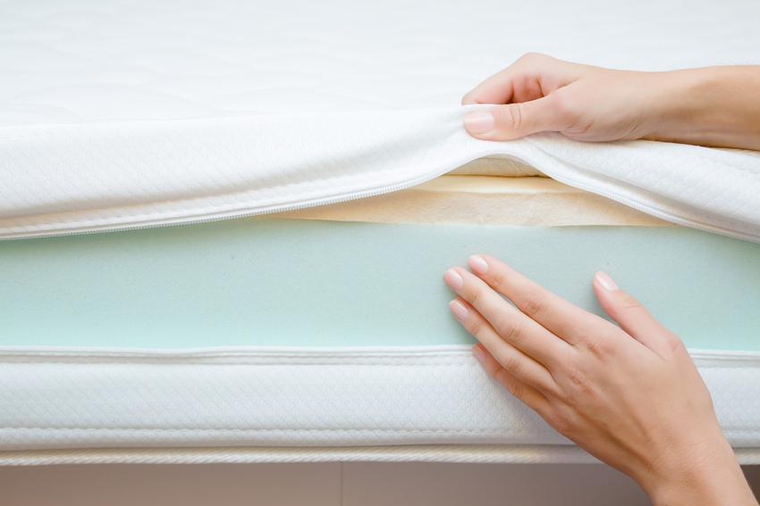 Podląd warstw materaca, a także materace do spania, materace do łóżka, materace sprężynowe, materace kieszeniowe