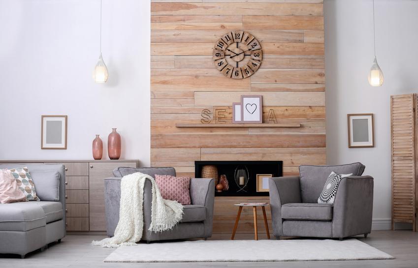 Panale drewniane na ścianę w salonie, a także drewniane panele ścienne i ich cena