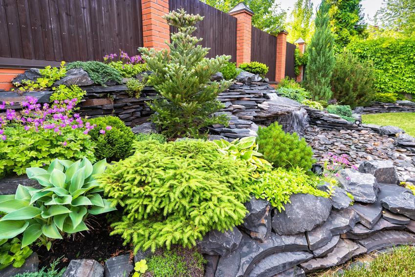 Kaskada ogrodowa w ogrodzie, a także kaskady ogrodowe, wodna ksakada, wodospad ogrodowy, cena
