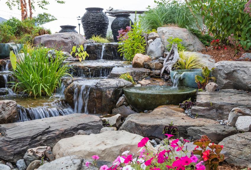 Wodna kaskada ogrodowa, a także kaskady ogrodowe, ich wykonanie i cena