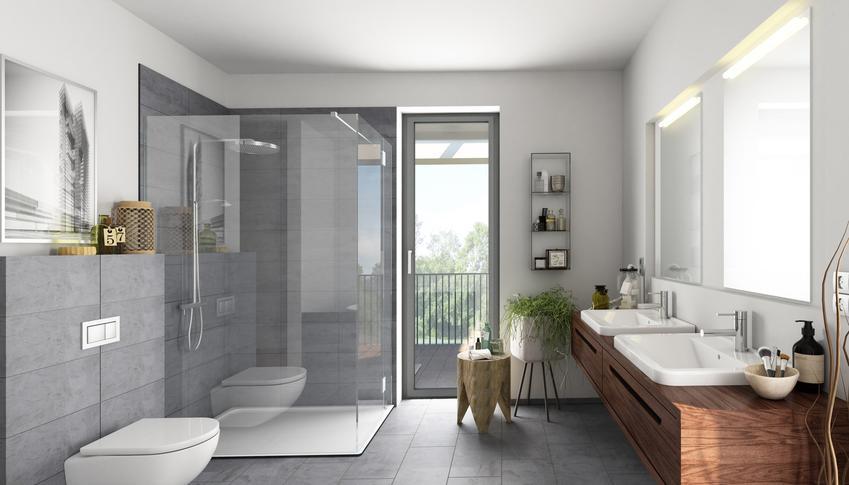 Piękna nowoczesna łazienka, a także brodzik posadzkowy, brodzik płaski i ich ceny