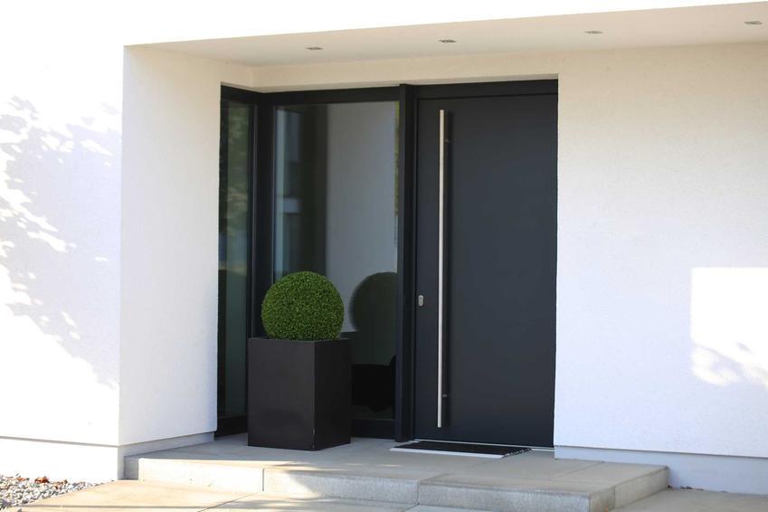 Nowoczesne drzwi wejściowe ciemne do domu jednorodzinnego, a także infromacje, modele, producenci, rozwiązania, polecane wzory