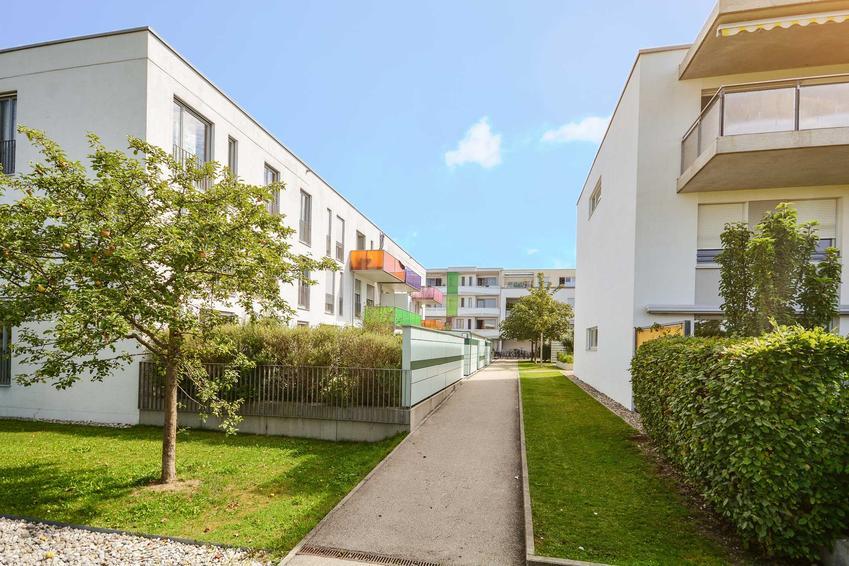 Osiedle nowych niewysokich bloków deweloperskich, w któych są mieszkania bezczynszowe, a także formalności i porady włascicieli