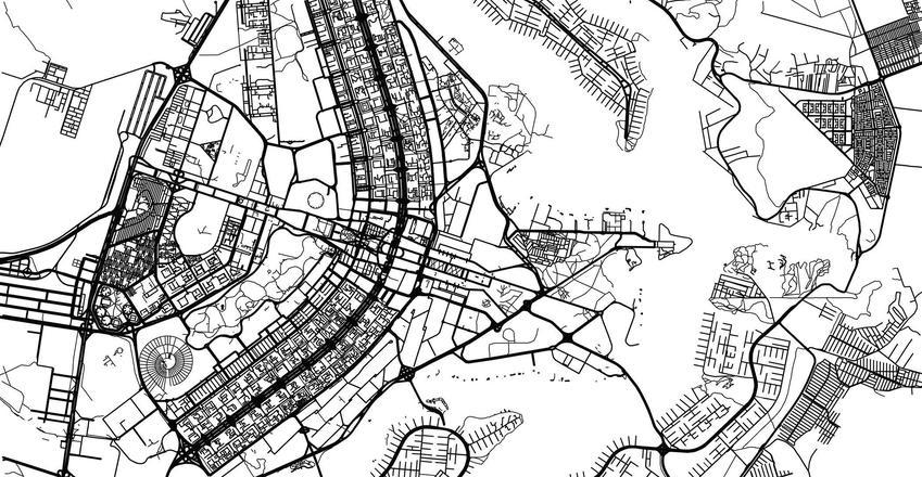 Plan stolicy w Brazylii, a także miasta, które zostały zaprojektowane od zera, czyli stolice wybudowane od podstaw